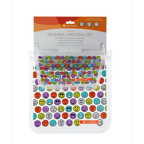 Full Circle - Reusable Emoji Lunch Bags (2 pack)