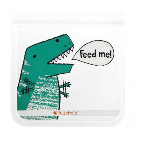 Full Circle - Reusable Dinosaur Design Lunch Set Bags (2 pack)