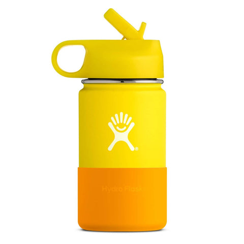 Hydro Flask - Double Insulated Wide Mouth Kids Bottle with Straw Lid - Lemon (354ml)