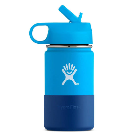 Hydro Flask - Double Insulated Wide Mouth Kids Bottle with Straw Lid - Pacific (354ml)