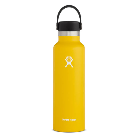 Hydro Flask - Double Insulated Standard Mouth Bottle with Flex Cap - Sunflower (621ml)