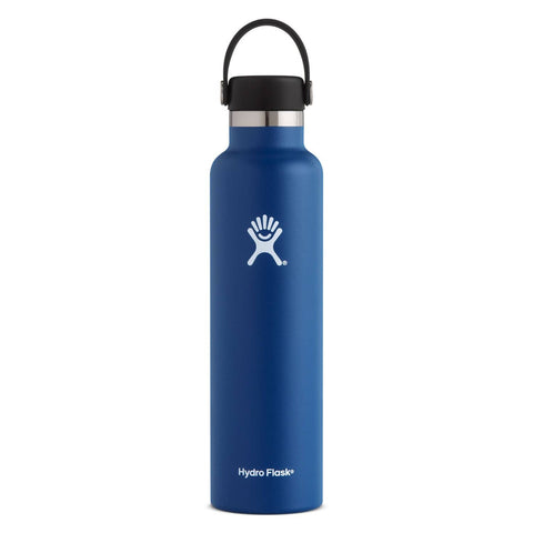 Hydro Flask - Double Insulated Standard Mouth Bottle with Flex Cap - Cobalt (709ml)