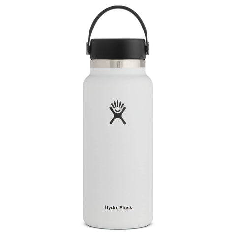 Hydro Flask - Double Insulated Wide Mouth Bottle with Flex Cap - White (946ml)
