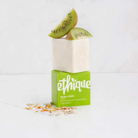 Ethique - Solid Shampoo Bar - Heali Kiwi For Touchy Scalps (110g)