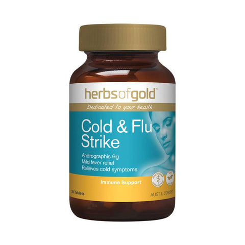 Herbs of Gold - Cold and Flu Strike (30 tablets)