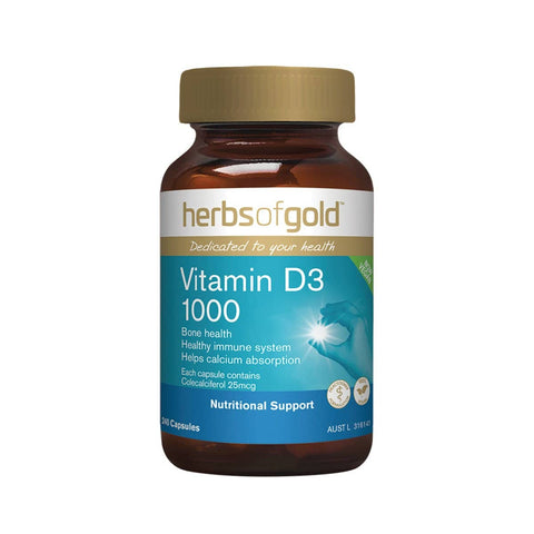 Herbs of Gold - Vitamin D3 1000 (240 capsules)