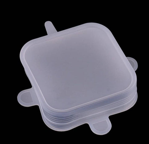 Bare & Co. - Reusable Silicone Lids  - Square (6 Pack)