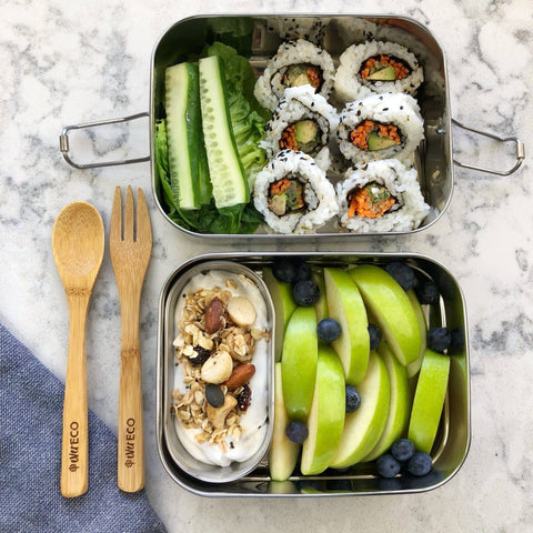 Ever Eco - Stackable Steel Bento Box - 2 Tier with Mini Container (1.2L)