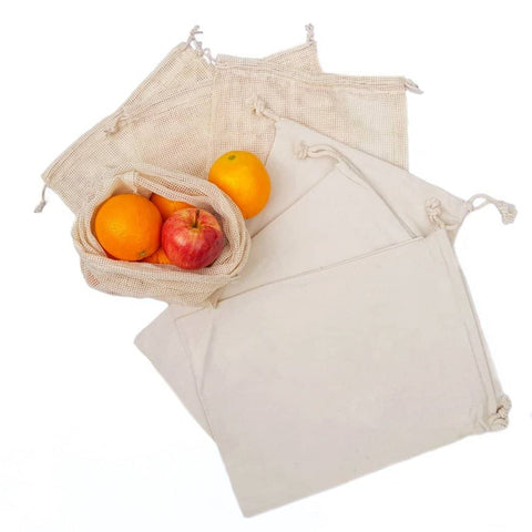 Bare & Co. - Reusable Organic Cotton Produce Bags - Mixed (6 Pack)