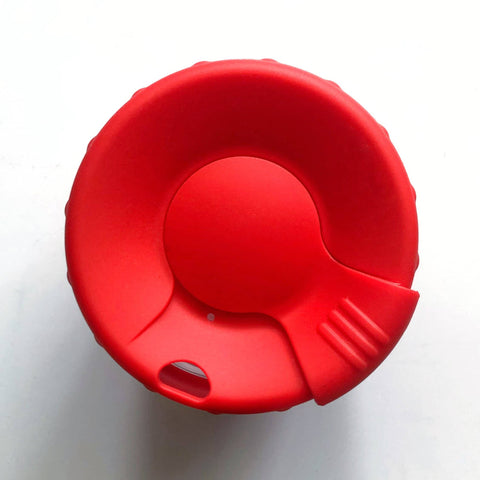 Bare & Co. - Reusable Coffee Cup with Plug Lid - Red (12oz/340ml)