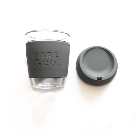Bare & Co. - Reusable Coffee Cup - Grey (12oz/340ml)