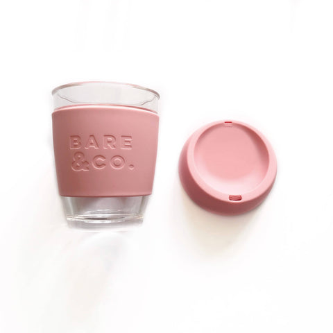 Bare & Co. - Reusable Coffee Cup - Pink (12oz/340ml)