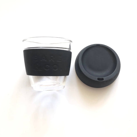 Bare & Co. - Reusable Coffee Cup - Black (8oz/227ml)