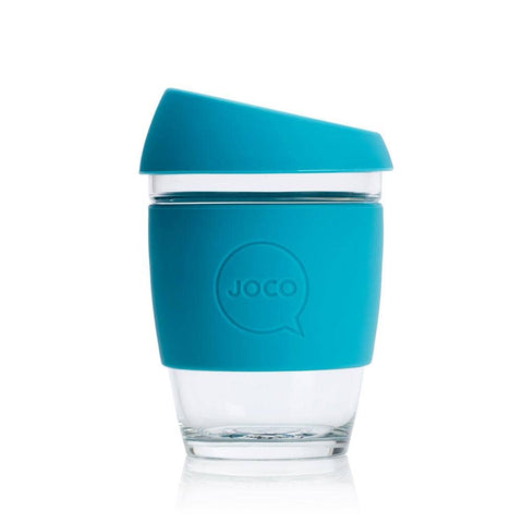 JOCO - Reusable Glass Cup - Blue (Regular 12oz)