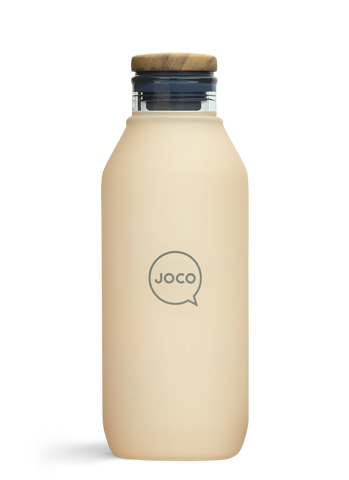 JOCO - Reusable Velvet Grip Drinking Flask - Amberlight (600ml)