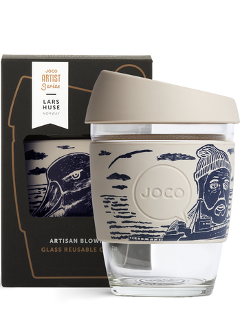 JOCO - Reusable Glass Cup - Artist Series Lars K Huse (Regular 12oz)
