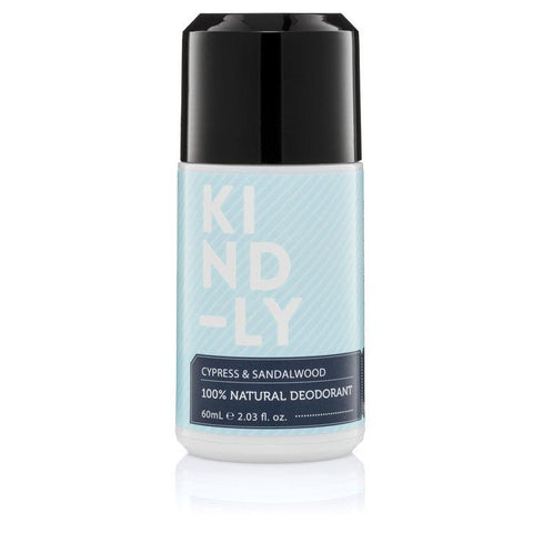 KIND-LY - Natural Deodorant - Cypress and Sandalwood (60ml)