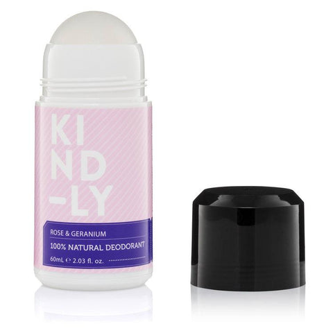 KIND-LY - Natural Deodorant - Rose and Geranium (60ml)