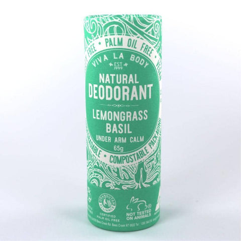 Viva La Body - Natural Deodorant - Lemongrass Basil (65g)