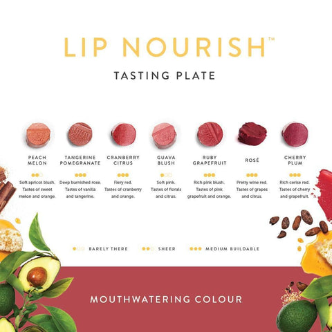 Luk Beautifiood - Lip Nourish Tasting Plate - Mouthwatering Colour (7 shades)