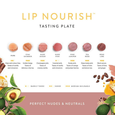 Luk Beautifiood - Lip Nourish Tasting Plate - Perfect Nudes and Neutrals(7 shades)
