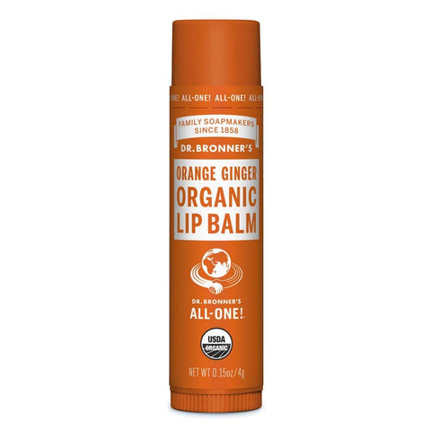 Dr Bronner's Organic Lip Balm - Orange Ginger 4g