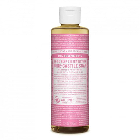 Dr Bronners 18 in 1 Pure Castile - Cherry Blossom Liquid Soap 237ml