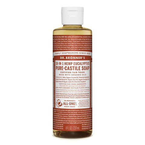 Dr Bronners - 18 in 1 Pure Castile  Liquid Soap - Eucalyptus (237ml)