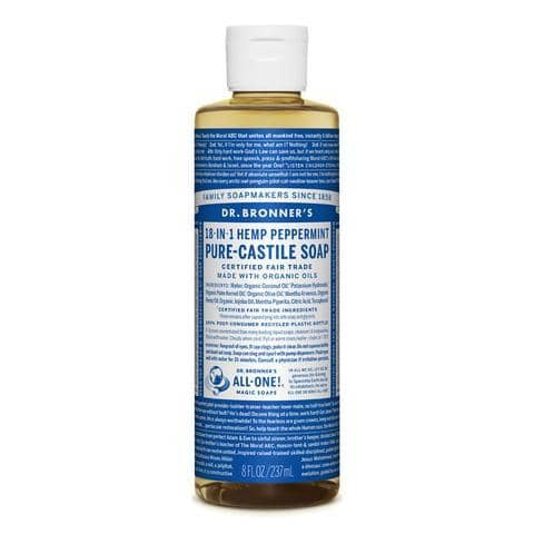 Dr Bronners 18 in 1 Pure Castile - Peppermint Liquid Soap 237ml