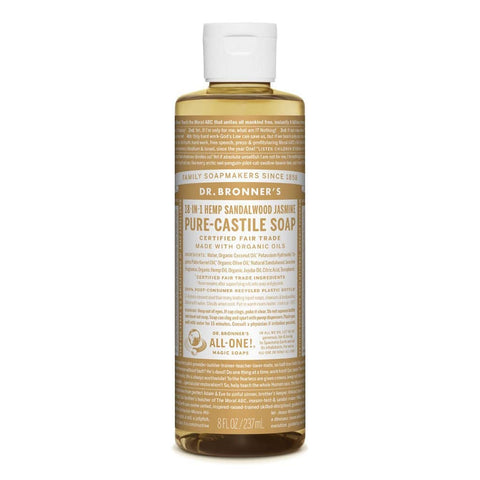 Dr Bronners - 18 in 1 Pure Castile Liquid Soap - Sandalwood and Jasmine (237ml)