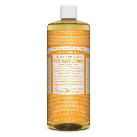 Dr Bronners 18 in 1 Pure Castile - Citrus Liquid Soap 946ml