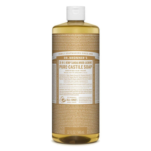 Dr Bronners - 18 in 1 Pure Castile Liquid Soap - Sandalwood and Jasmine (946ml)