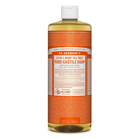Dr Bronners 18 in 1 Pure Castile - Tea Tree Liquid Soap 946ml