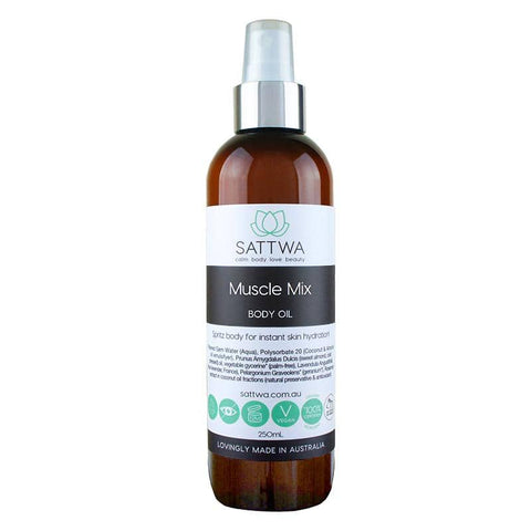 Sattwa - Muscle Mix Body Oil (100ml)