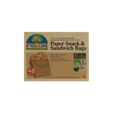 If You Care - Paper Snack and Sandwich Bags (48 bags)