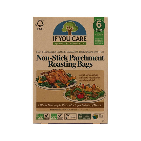 If You Care - Non-Stick Parchment Roasting Bags - Medium (6 pack)