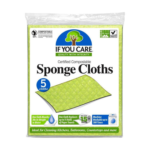 If You Care - Compostable Sponge Cloths (5 Pack)