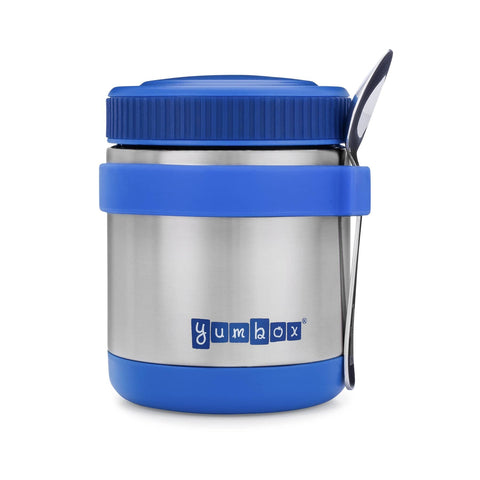 Yumbox - Zuppa Thermal Food Jar For Hot Lunch - 14oz with Spoon (Blue)