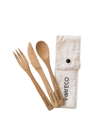 Ever Eco - Bamboo Cutlery Set (with Organic Cotton Pouch)
