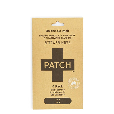 Patch -  On-the-Go Bamboo Bandages - Activated Charcoal (4 pack)