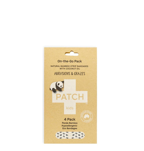 Patch - On-the-Go Bamboo Bandages - Abrasions & Grazes (4 pack)