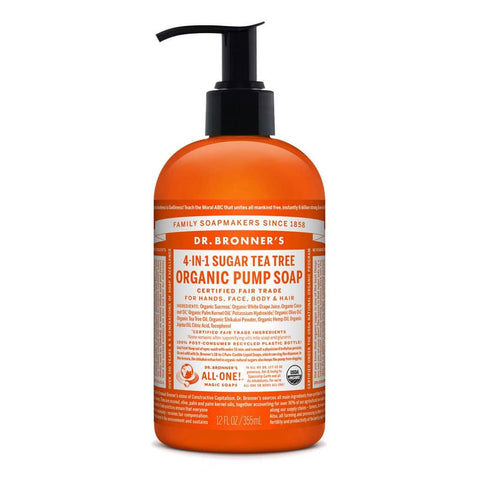 Dr Bronners 4 in 1 Organic Baby - Tea Tree Liquid Pump Soap 355ml