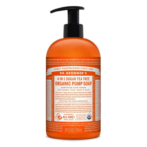 Dr Bronners - 4 in 1 Pump Soap - Tea Tree (710ml)