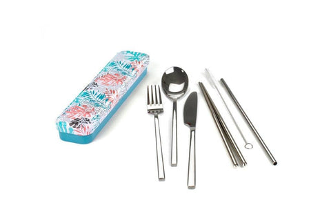 Retro Kitchen - Carry Your Cutlery Set - Palm Fronds
