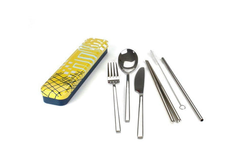 Retro Kitchen - Carry Your Cutlery Set - Abstract