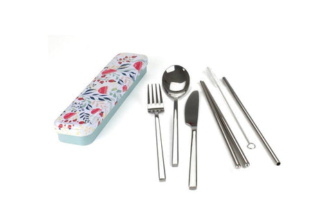 Retro Kitchen - Carry Your Cutlery Set - Botanical