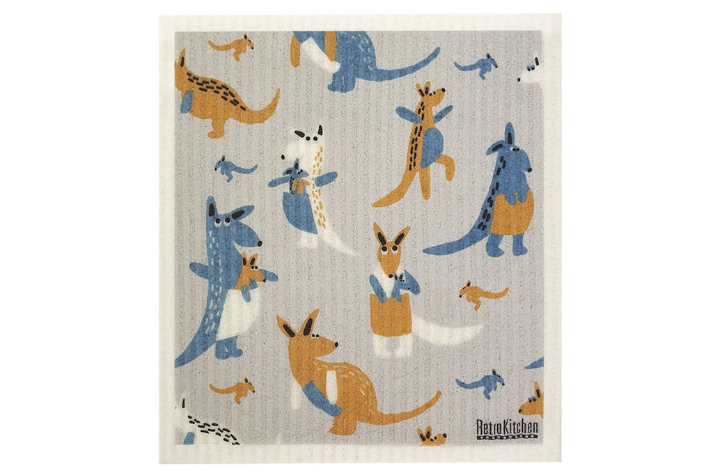 Retro Kitchen - Biodegradable Dish Cloth - Kangaroo