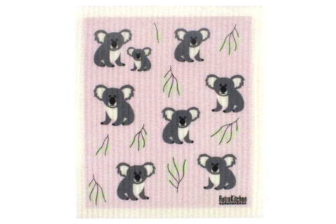 Retro Kitchen - Biodegradable Dish Cloth - Koala