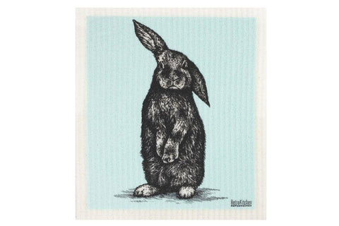 Retro Kitchen - Biodegradable Dish Cloth - Sketch Rabbit