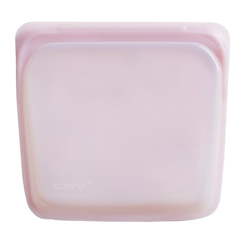 Stasher - Plastic-Free Sandwich Bag - Rose Quartz